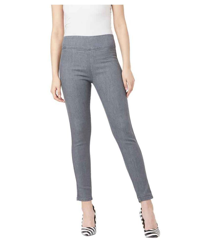 Miss Chase Denim Jeggings - Grey