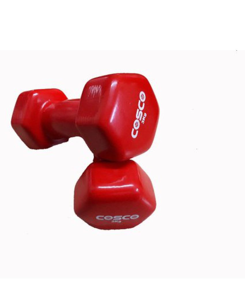 COSCO VINYL DUMBBELL 3 KG 1 PAIR
