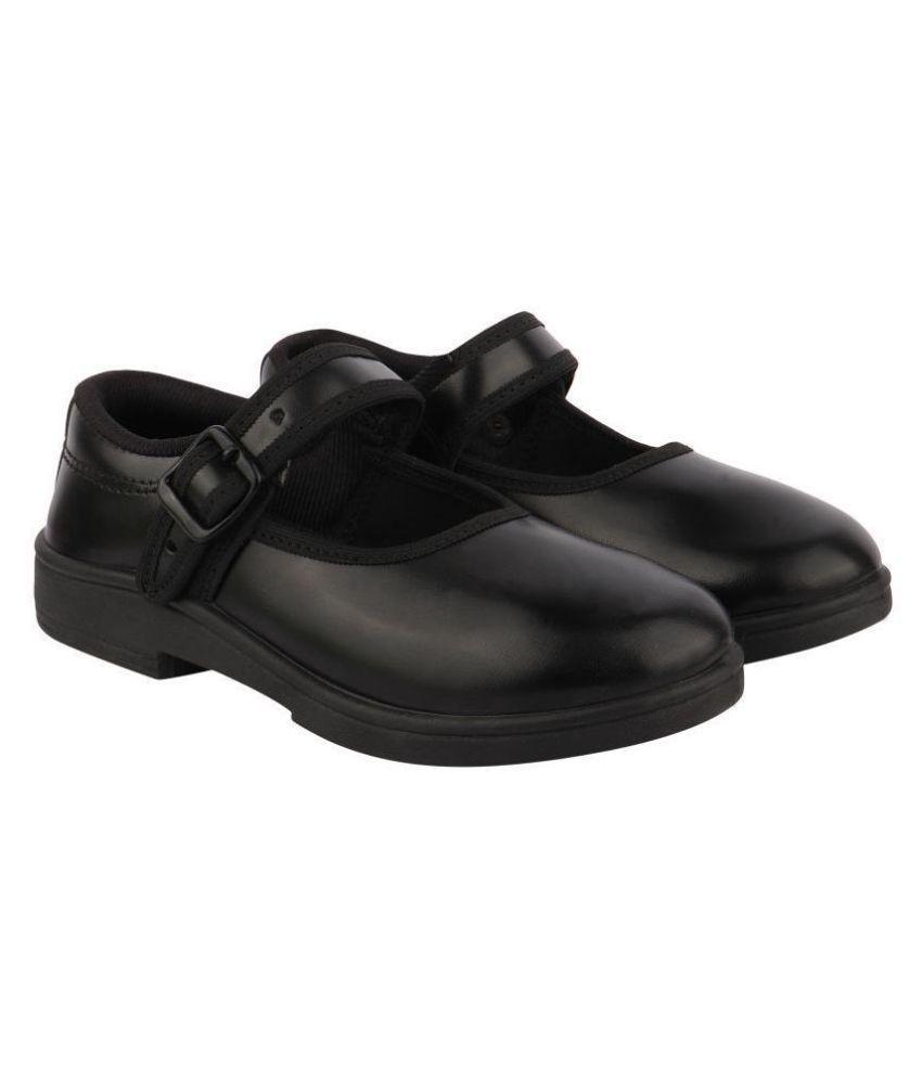Rex Golden PVC Rexion PVC School/Casual/Sports/Formal Wear Black Buckle Belly Cum Girl School Shoes | Black