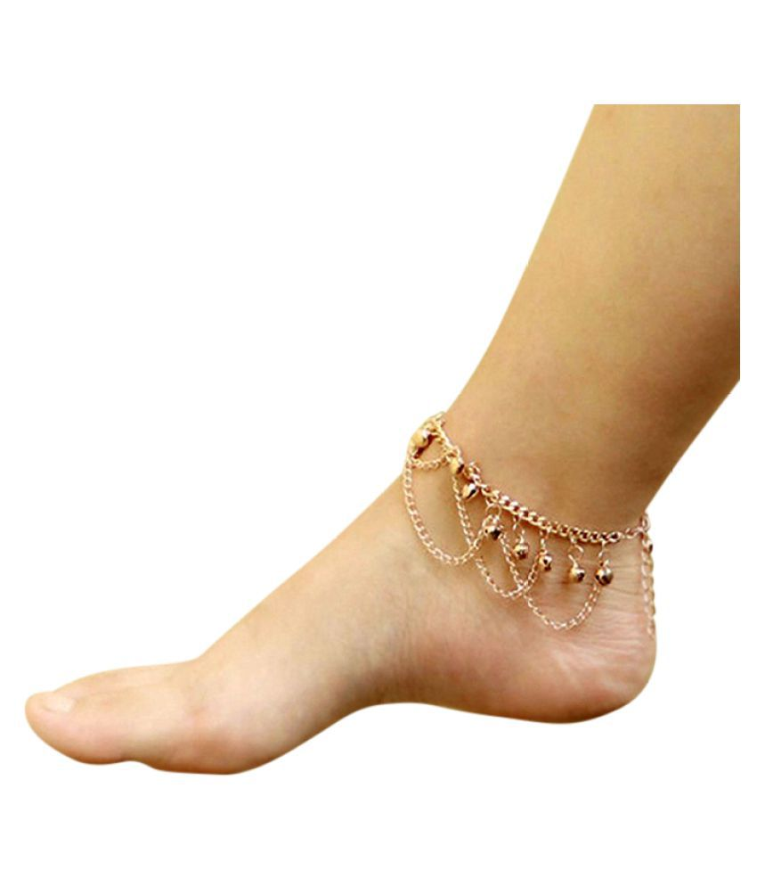 Multi Tassel Bell Simple Anklet