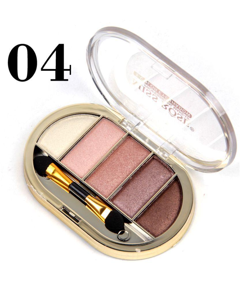 Miss Rose 5 COLOR EYE SHADOW (4 SHADES) Eye Shadow Cream-to-powder Colours 10 g