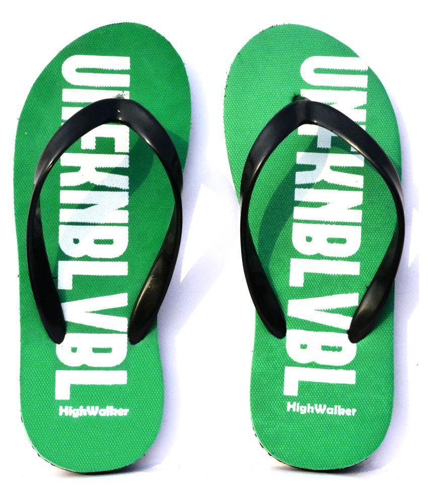 HighWalker Green Daily Slippers