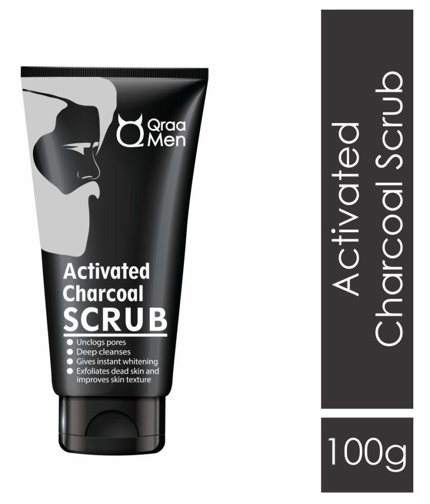 Qraa Activated Charcoal Men Facial Scrub 100 g