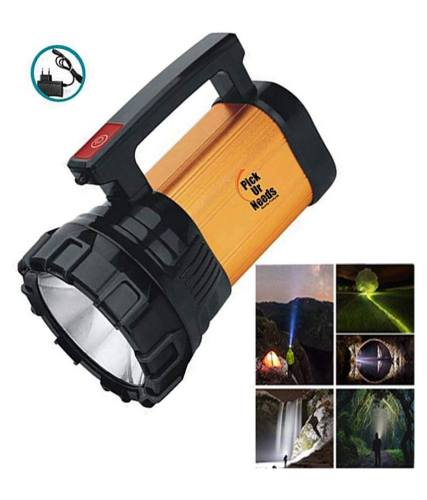 SM   High Power 100w Rechargeable Waterproof Bright Led Torch Light Above 50W Flashlight Torch Emergency Lights - Pack of 1