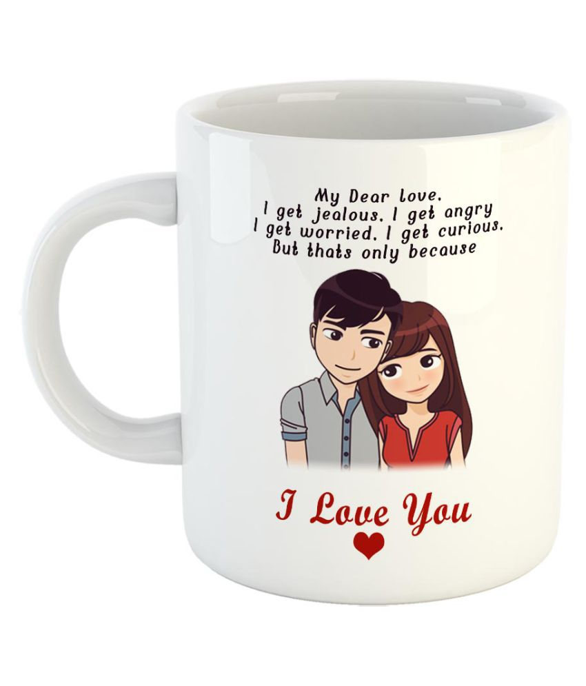 Fabtoday I Love You Coffee Mug Best Valentine Gift For Husband And Boyfriend Girlfriend Wife Color White Buy Online At Best Price In India Snapdeal