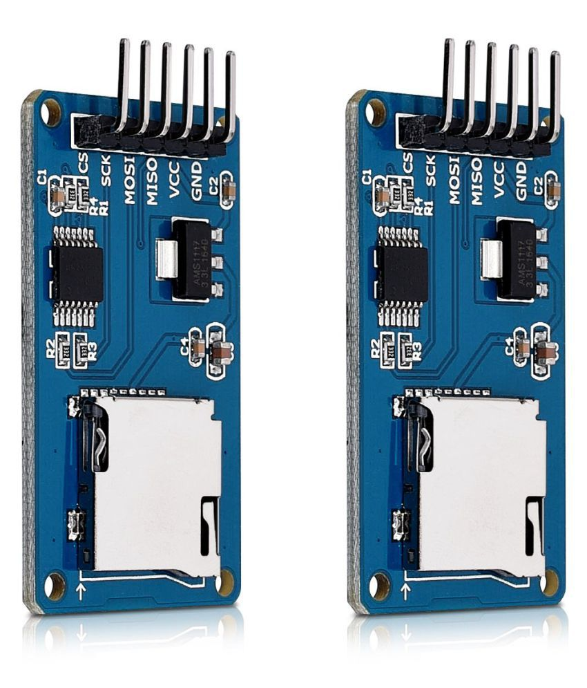 2x Micro SD Card Reader Module 5V Card Adapter for Arduino and other Microcontrollers