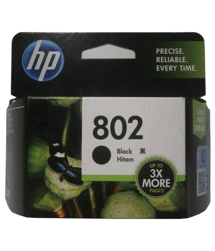 HP 802 Single Color Ink Cartridge Black