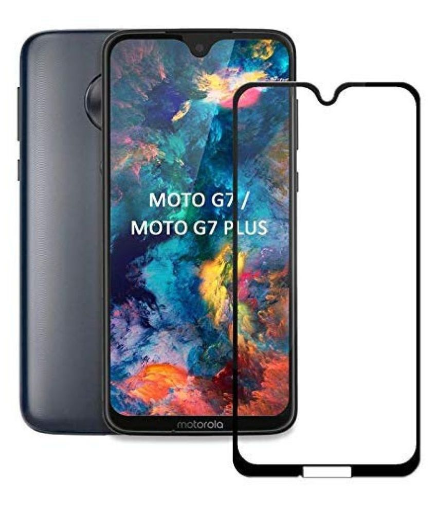 Moto G7 Tempered Glass Screen Guard By lenmax UV Protection, Anti Reflection