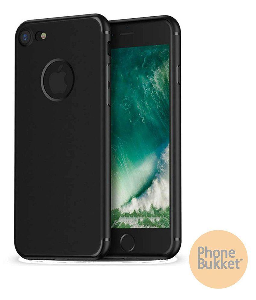 PhoneBukket Soft TPU Black Back Case for Apple iPhone 8