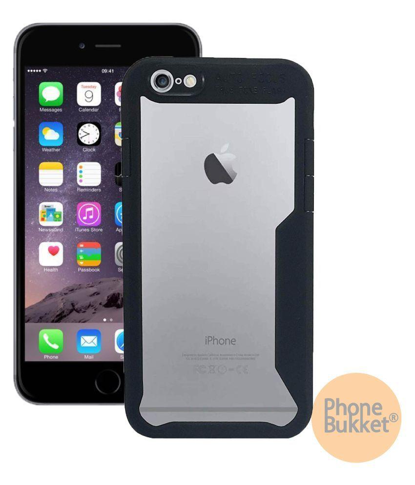 PhoneBukket Transparent Shockproof Bumper Cover Case for Apple iPhone 6