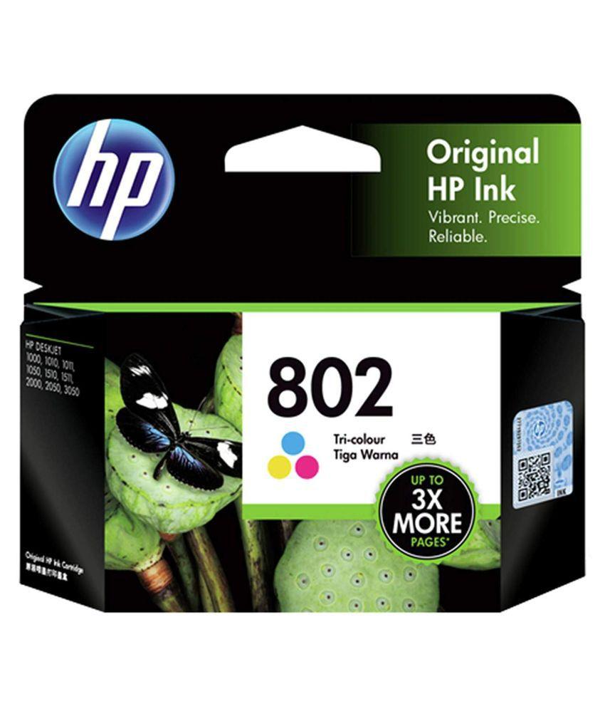 HP 802 Ink Cartridge   Tri color