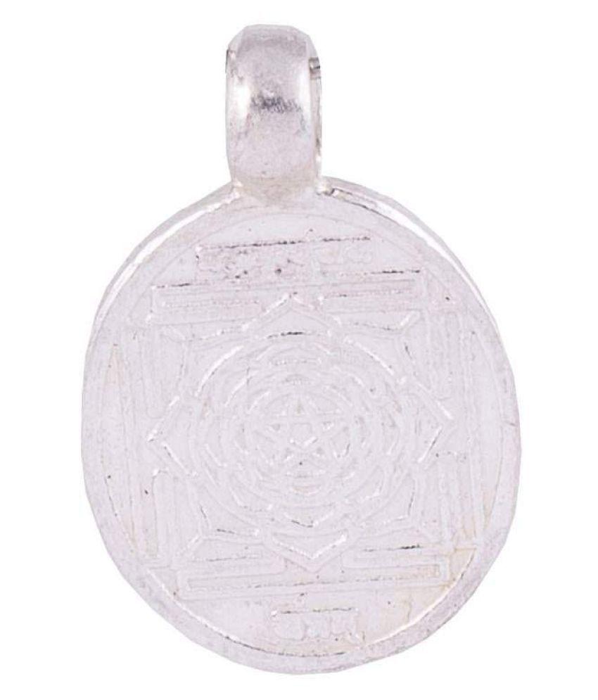 PANDIT NM SHRIMALI Mahamrityunjay Yantra Locket Maha Mrityunjay Yantra Kavach Pendant, Silver 2.5-3gm