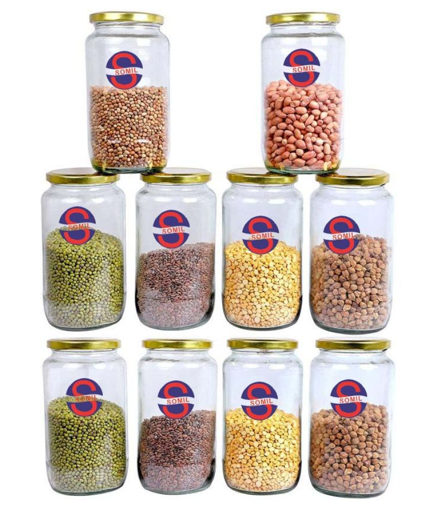 Somil Somil Container Set  Glass Food Container Set of 10 300 mL