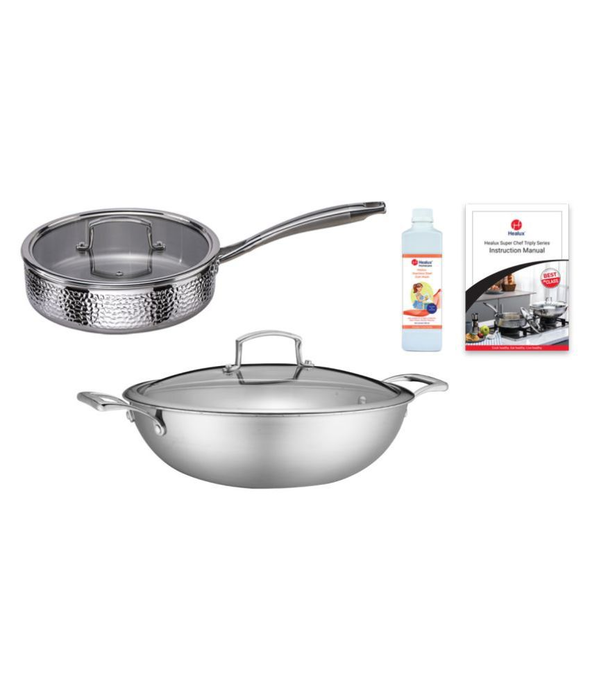 Healux Surgical Steel 4 Piece Cookware Set