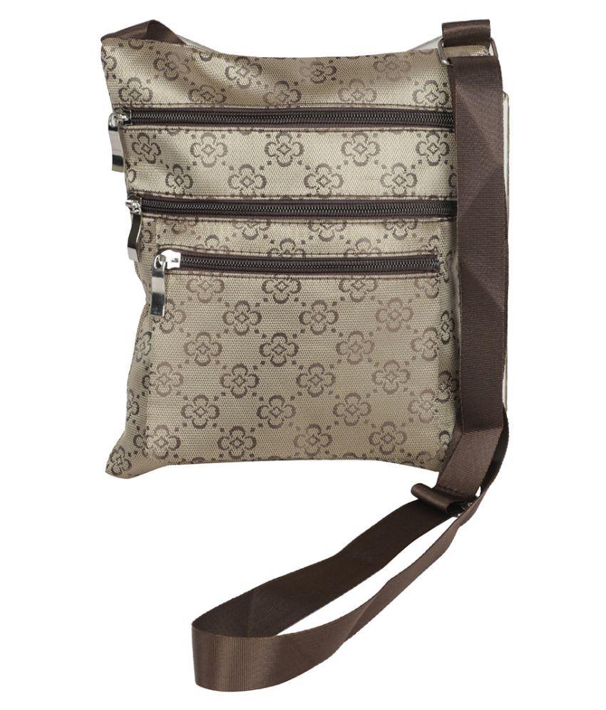 NFI essentials Brown Polyster Sling Bag