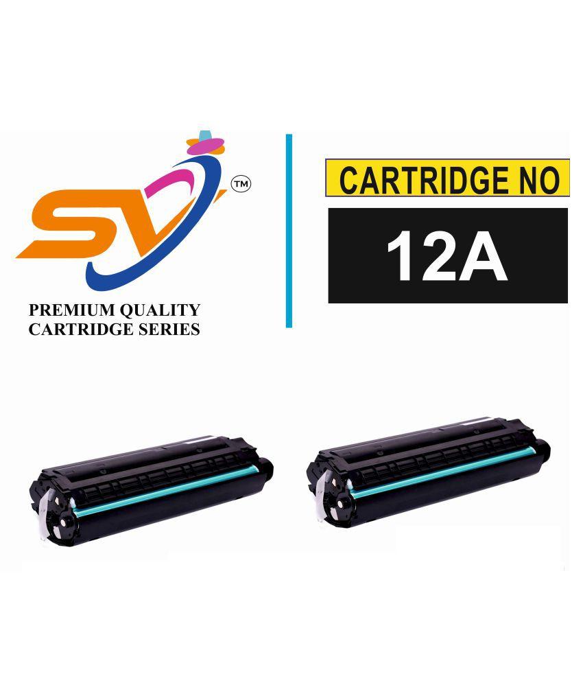 SiddhiVinayak Black Pack of 2 Toner for 12A /Q2612A TONER CARTRIDGE