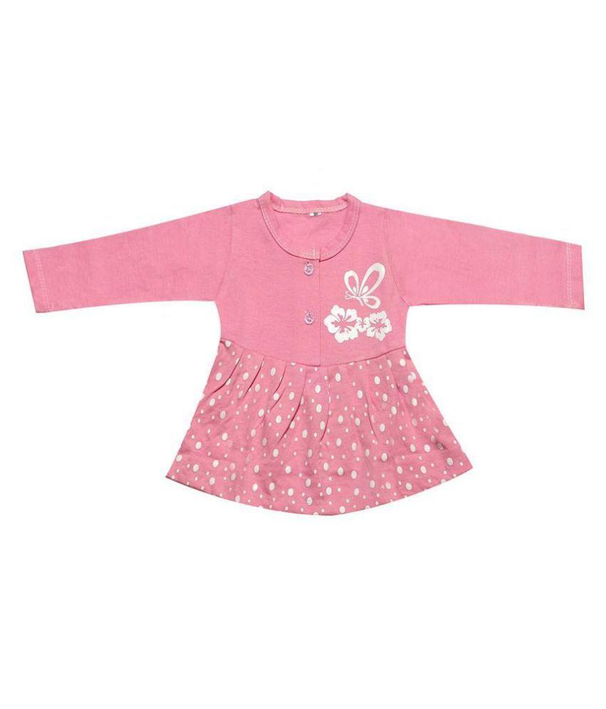 Babeezworld Regular Daily Wear Baby Girl Cotton Full Sleeves  Frock Dress