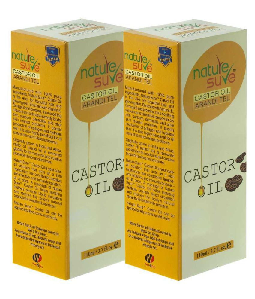 Nature Sure Castor Oil Carrier Oil 200 mL