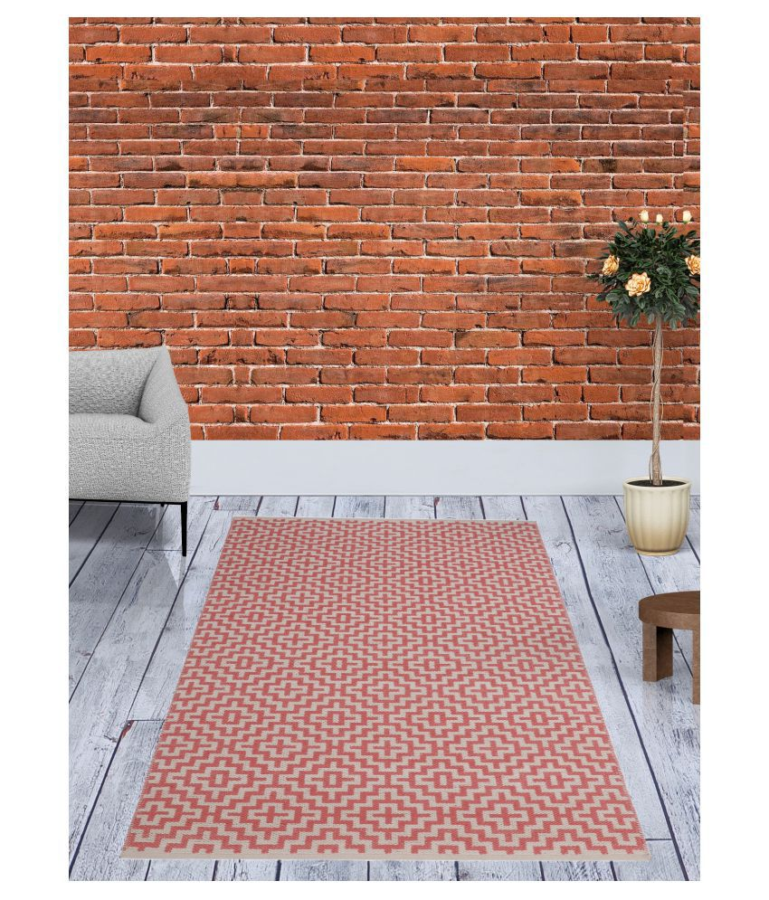 UB Home and Decor Pink Chenille Carpet Others 4x6 Ft