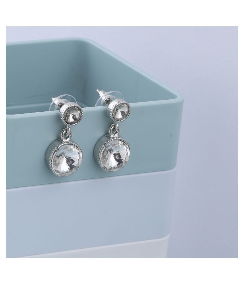 SILVER SHINE  Delicated Party Wear Stylish Studs  Earring For Girl Women