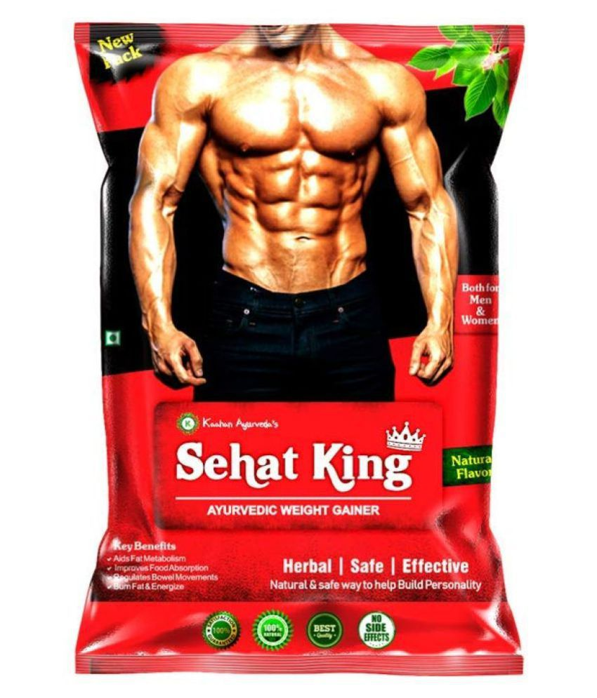 Kaahan Ayurveda Sehat King Ayurvedic Powder For Weight Gainer 160g Weight Gainers/Mass Gainers  (160 g, NA) 160 gm Unflavoured