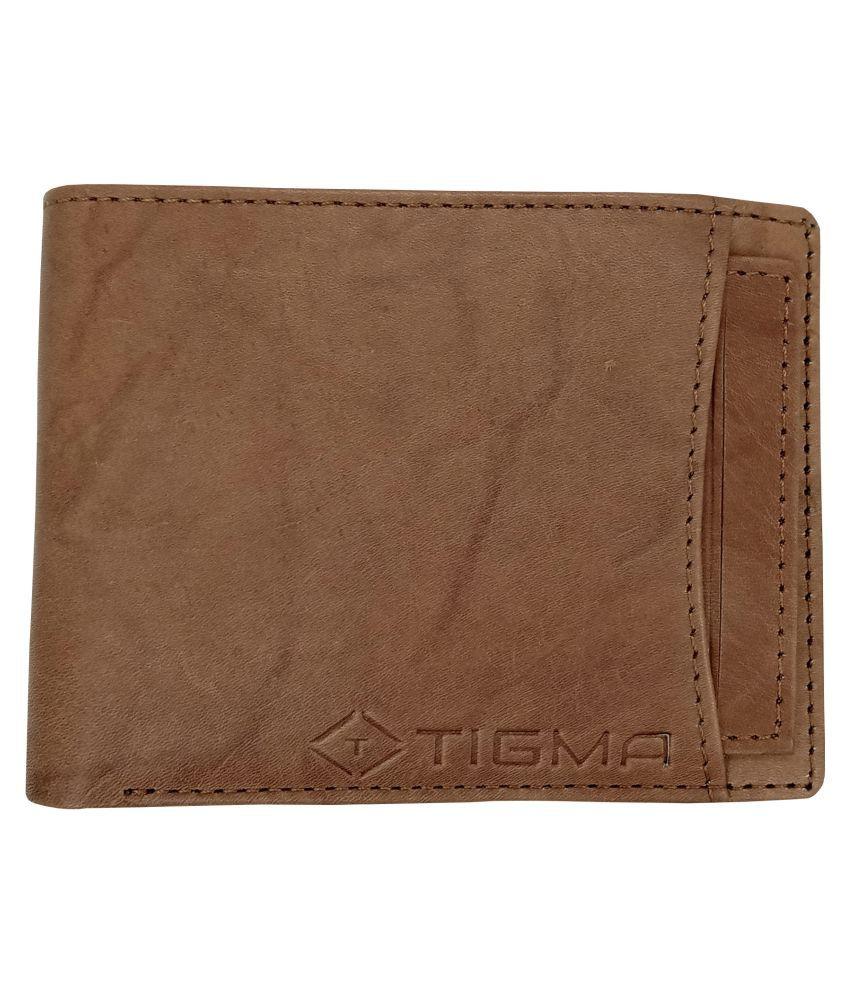 TIGMA Faux Leather Khaki Fashion Regular Wallet
