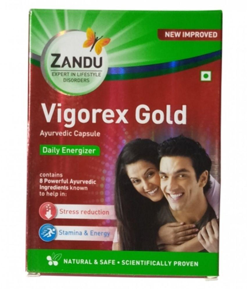 Zandu Vigo_rex Gold Capsule (10x5=50 Caps) Capsule 50 no.s