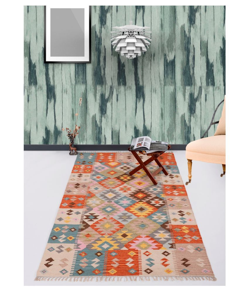 UB Home and Decor Multi Cotton Carpet Others 4x6 Ft
