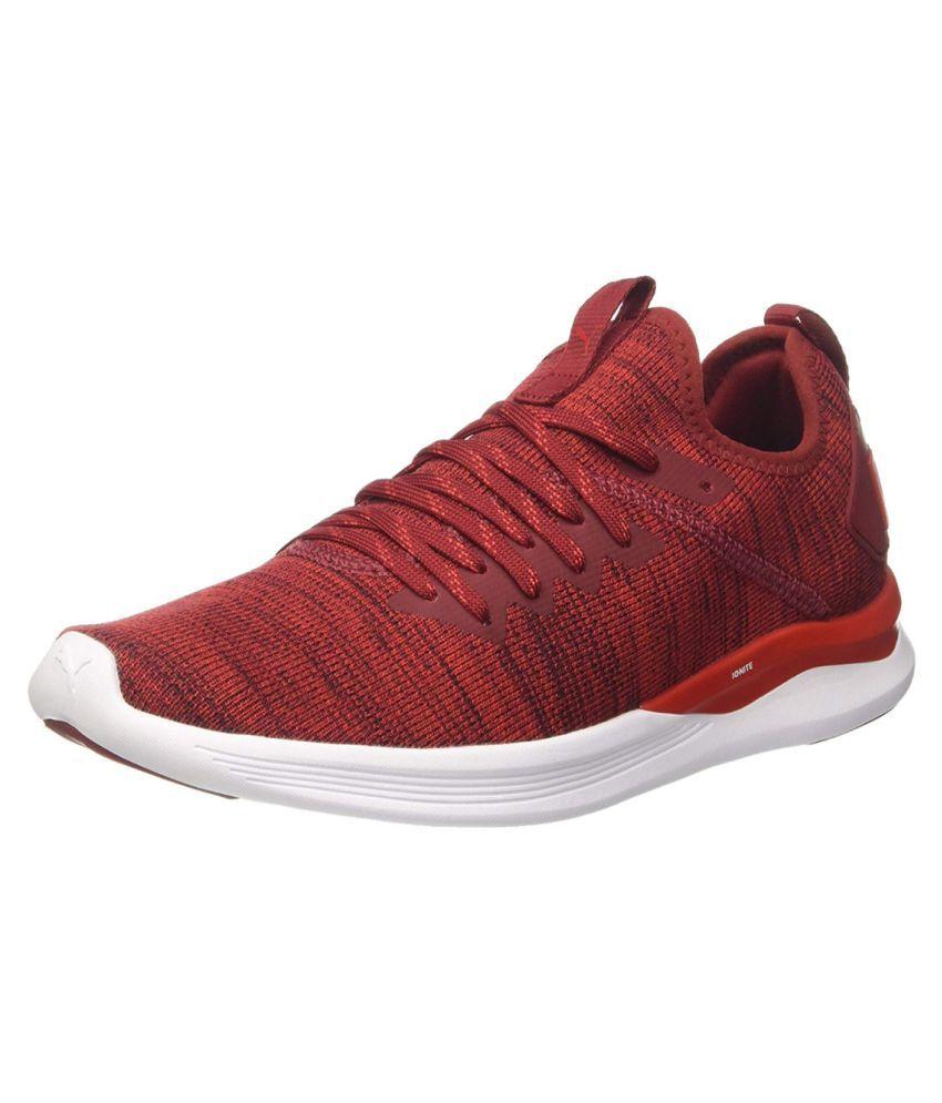 hot sales 39964 1a2db Puma Ignite Flash Evoknit Running Shoes Red
