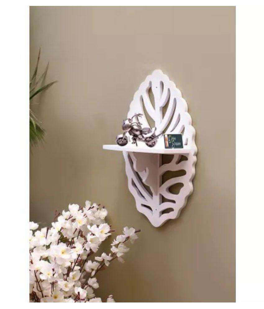 Onlineshoppee Beautiful MDF Decorative Corner Wall Shelf - White