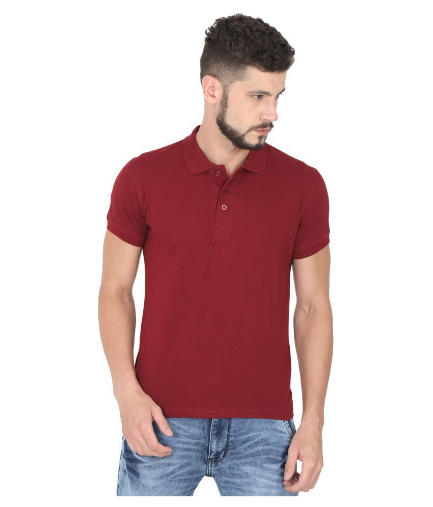 97f8916adac Quco Maroon Regular Fit Polo T Shirt - Buy Quco Maroon Regular Fit Polo T  Shirt Online at Low Price - Snapdeal.com