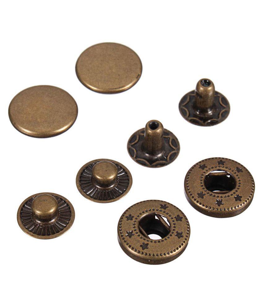 15 Pcs 10/12 5/15/17mm Snap Fasteners Popper Press Stud