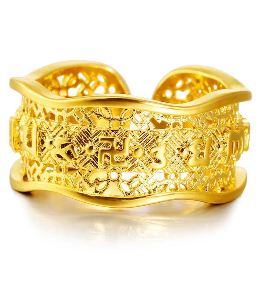 Six-Word Mantra Open Ring Men Fashion Jewellery