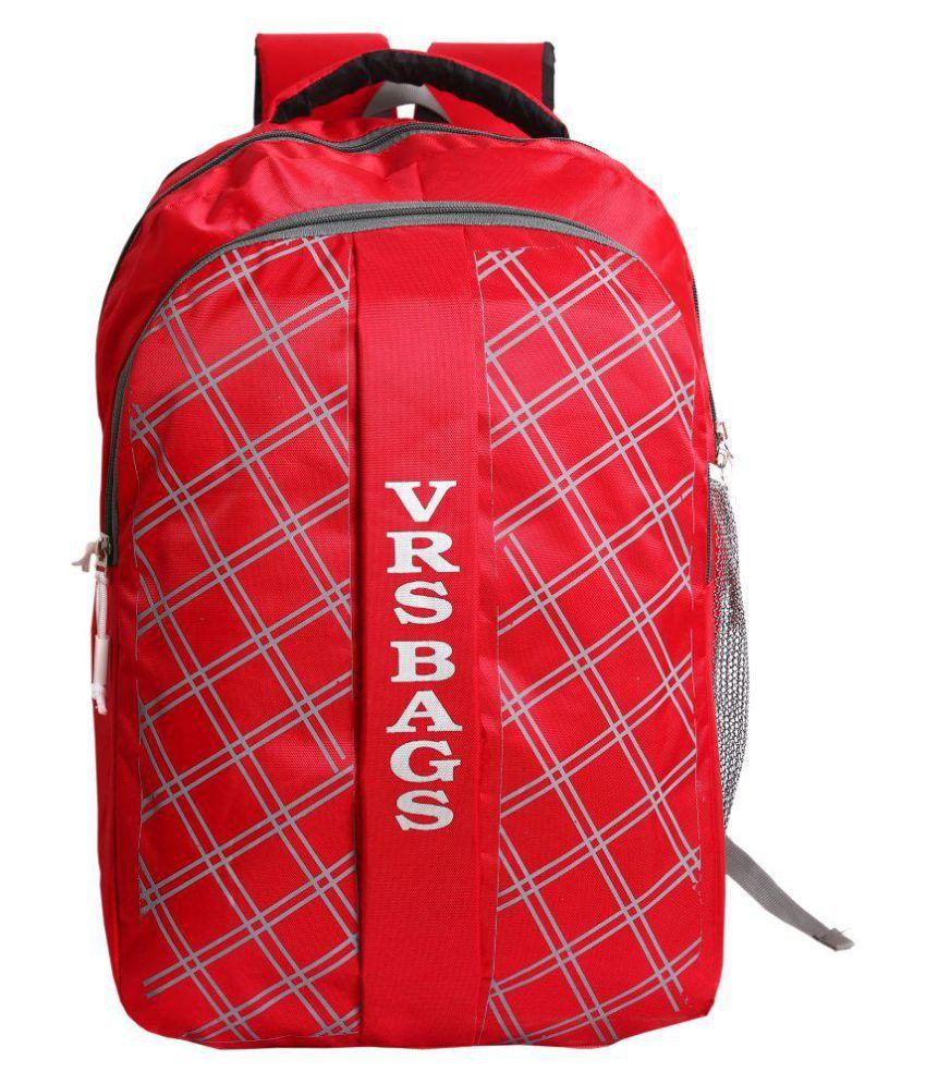 VRS BAG Red School Bag 20 Ltr for Boys & Girls