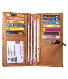 ABYS Bi-Fold Tan Long Card Holder