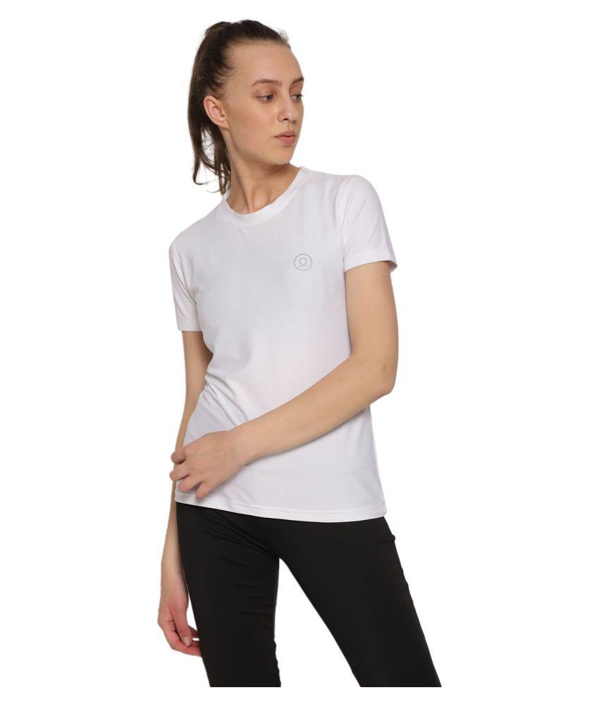 CHKOKKO Round Neck Half Sleeve Yoga Sports Dryfit Active Wear Gym Tshirt for Women Gym Wear Women/Tight Women/Yoga Dress
