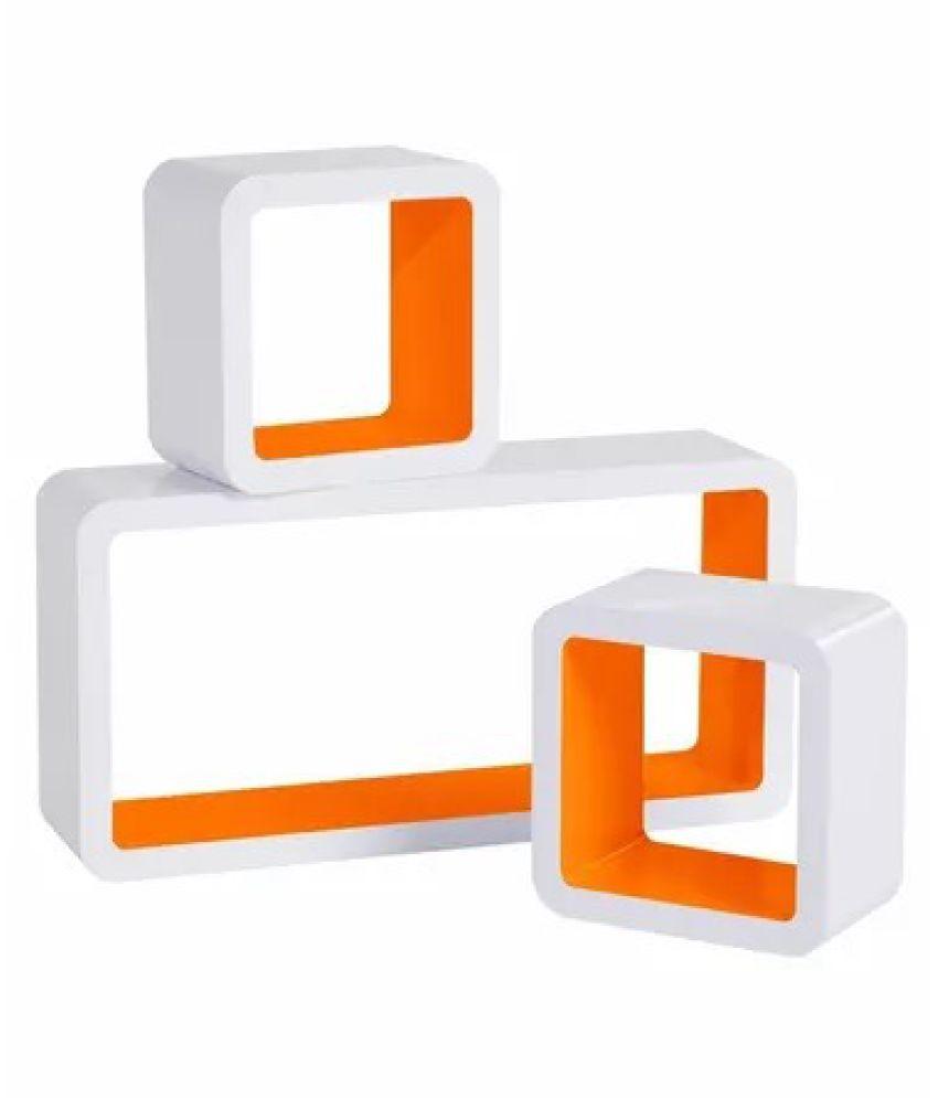 Onlineshoppee MDF Artesania Grande Cube Floating Wall Shelves Set of 3