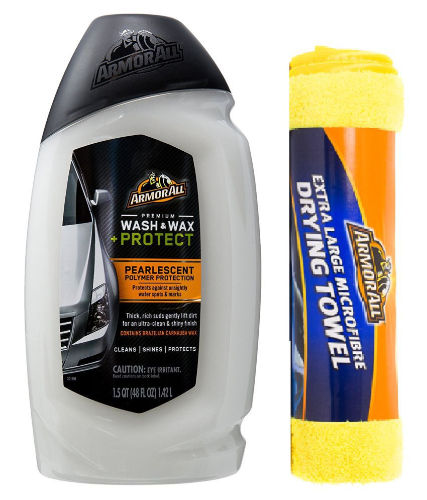 Armorall Premium Wash & Wax 1420ml with Armorall Xtra Large Micro Fiber Drying Towel 60X80