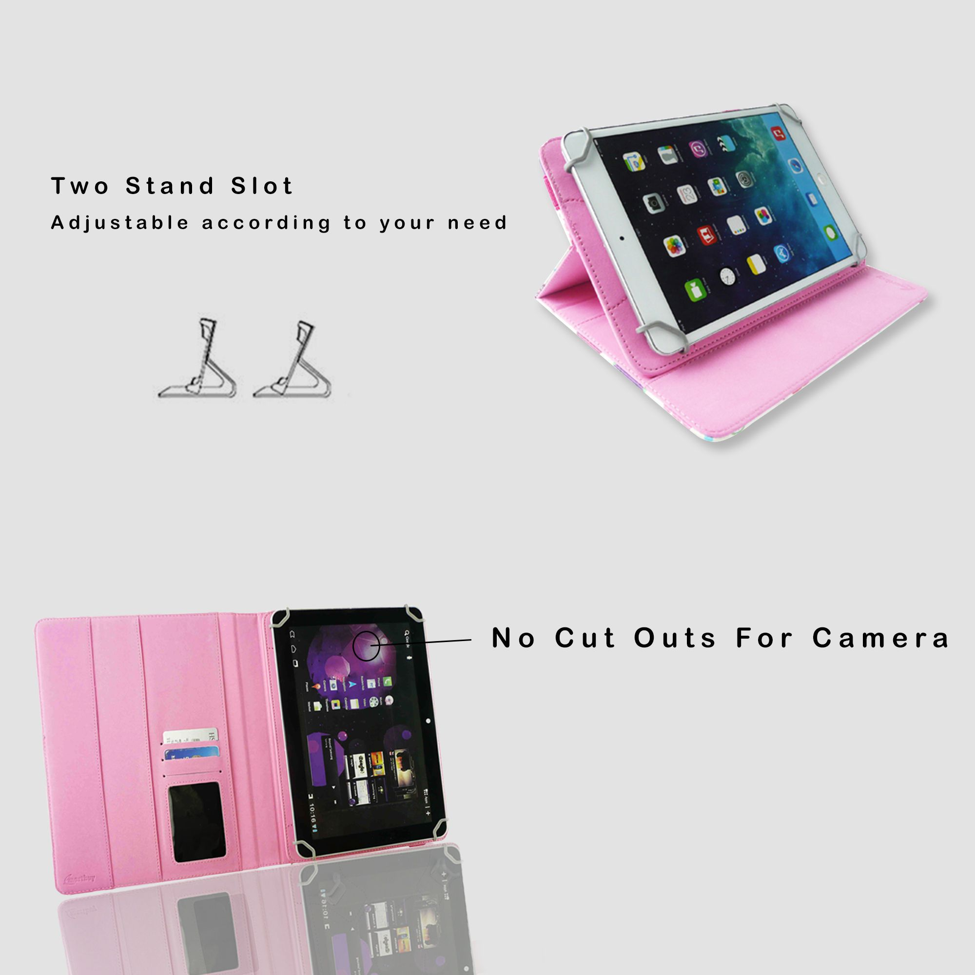 info for 88438 74084 Samsung Galaxy Tab 4 T231 Flip Cover By Emartbuy Multi Color
