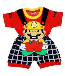 6e71239cd City Boy Kids Wear I-Top & Bottom Dungaree Set For Baby Boy Half Sleeves. Rs.  950 Rs. 695