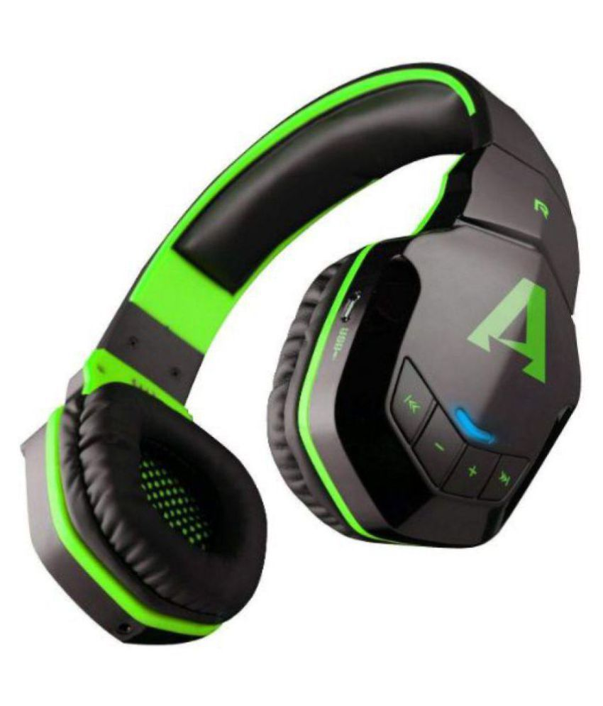Boat ROCKERZ 510 VIPER GREEN Over Ear Wireless Headphones With Mic