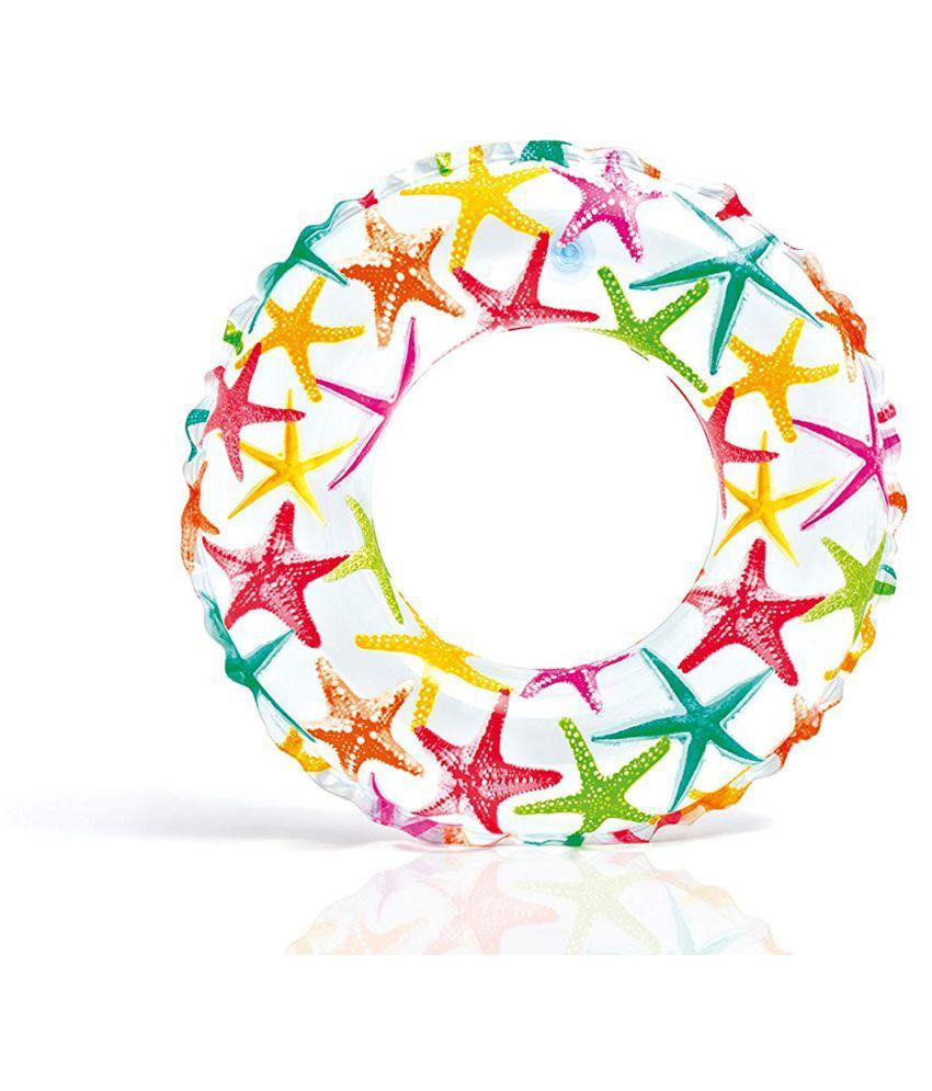 play pacific multicolor print swim ring