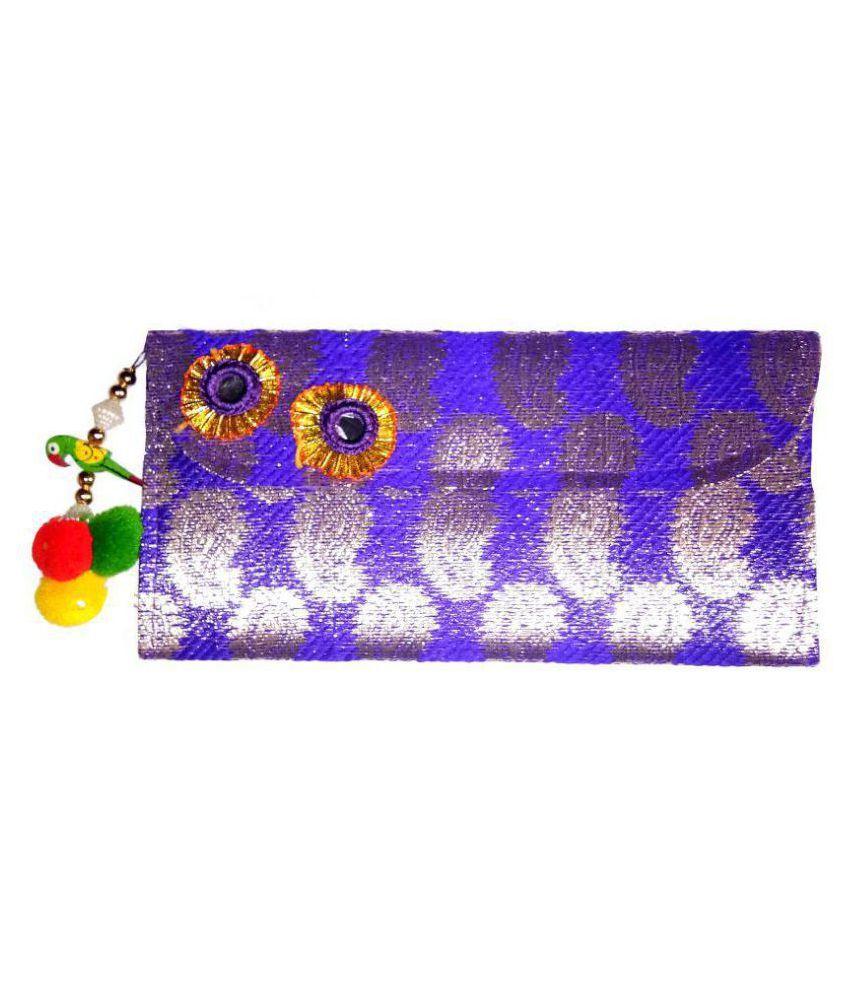 Shrungarika Purple Brocade Handheld