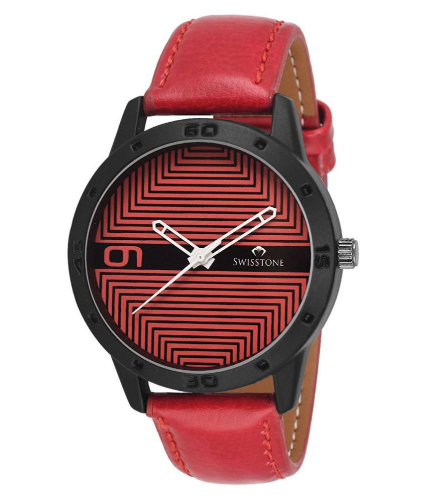 Swisstone FTREK079-RED Leather Analog Men's Watch