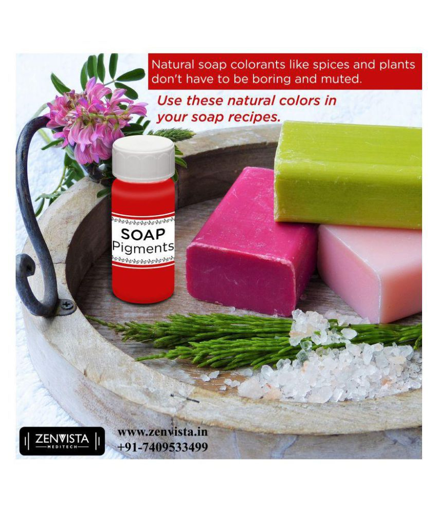 Zenvista Meditech Red Color Liquid Pigment For Soap & Candle Making ,DIY  Care,Can be mixed together, Moisturizer 15 ml