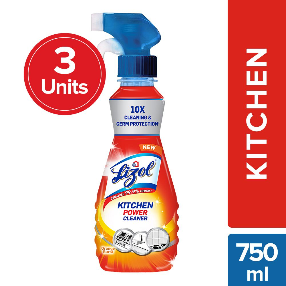 Lizol Kitchen All Purpose Cleaner 250 ml each - Pack Of 3