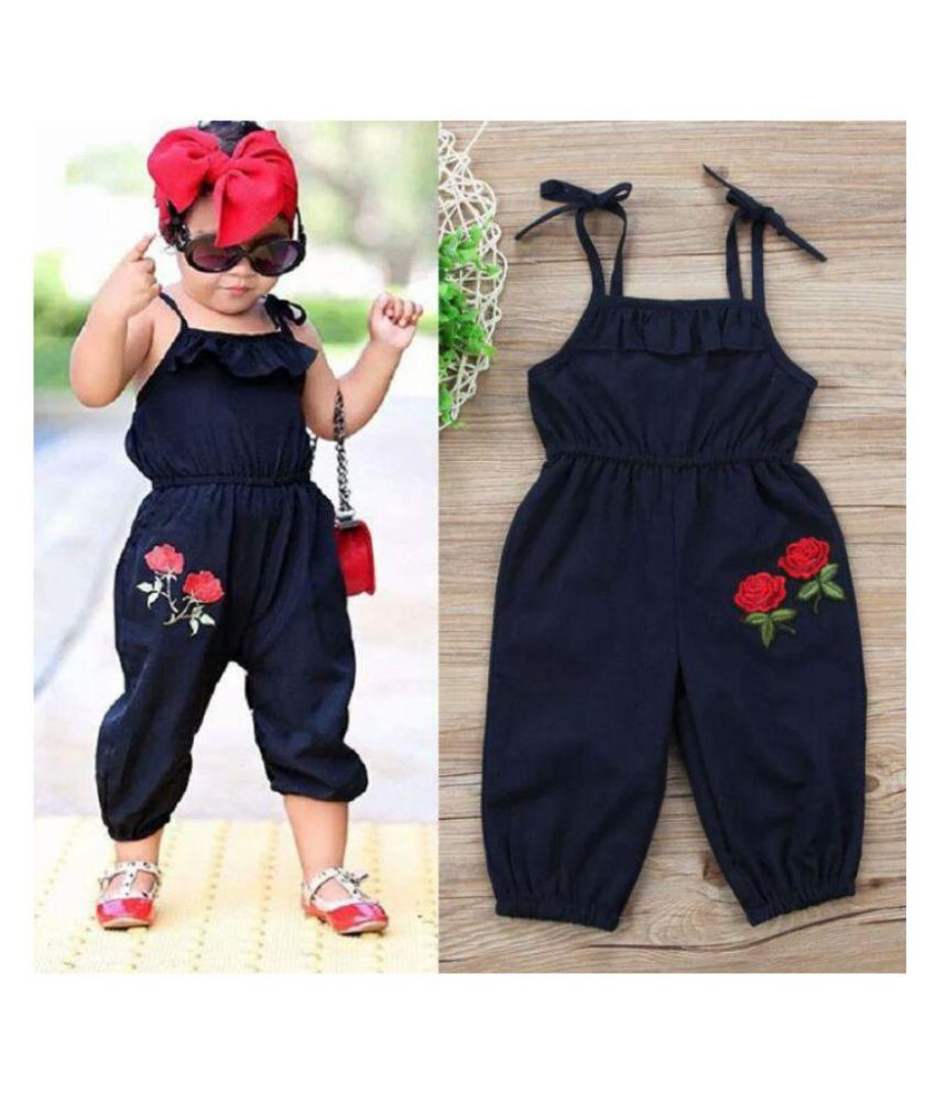 fa78b0979 Infants , Kids , Baby Jumpsuit with Rose Applique