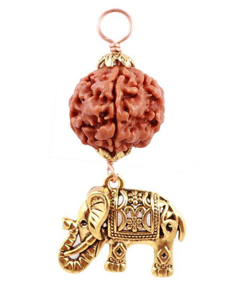 Rudra Blessings 5 Mukhi Rudraksha from Nepal with Lucky Charm Elephant