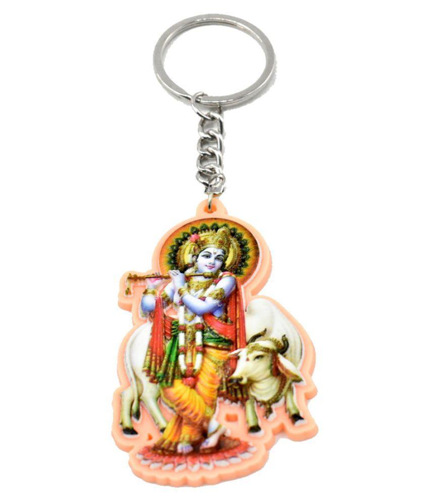 Faynci Gopal Krishna with flute Decorative Key Chain Skin  For Gifting