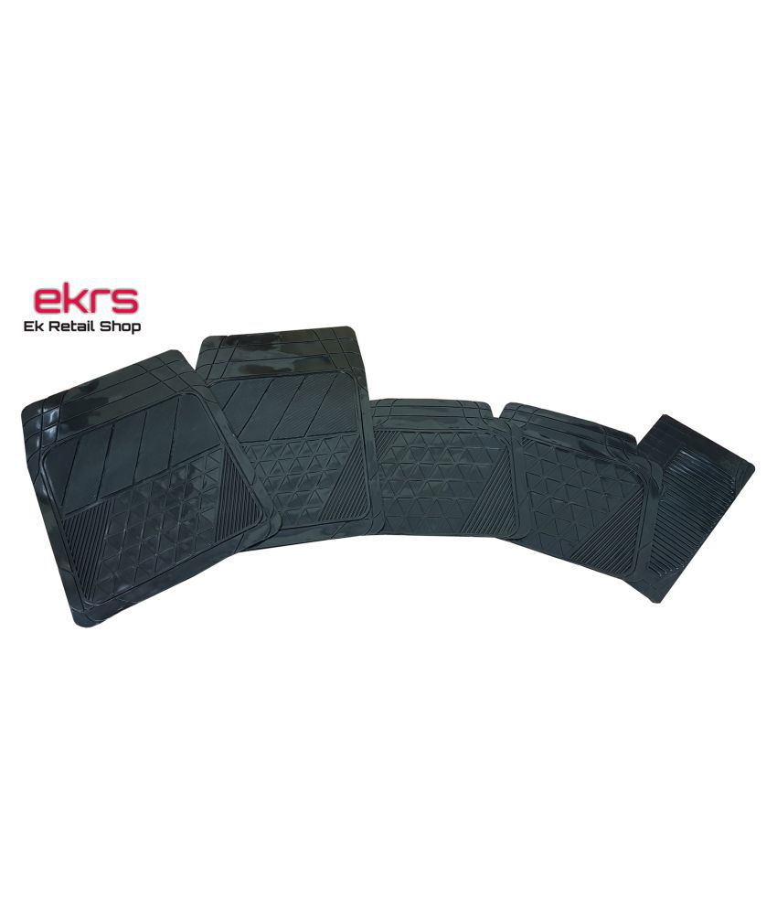 Ek Retail Shop Car Floor Mats (Black) Set of 4 for Hyundai EON 1.0 Magna Plus Option O